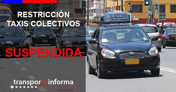Restricción vehicular para taxis colectivos que ingresen al Gran Valparaíso