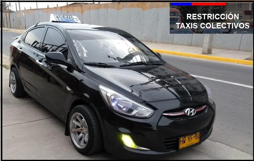 Restricción vehicular para taxis colectivos que ingresan al Gran Valparaíso