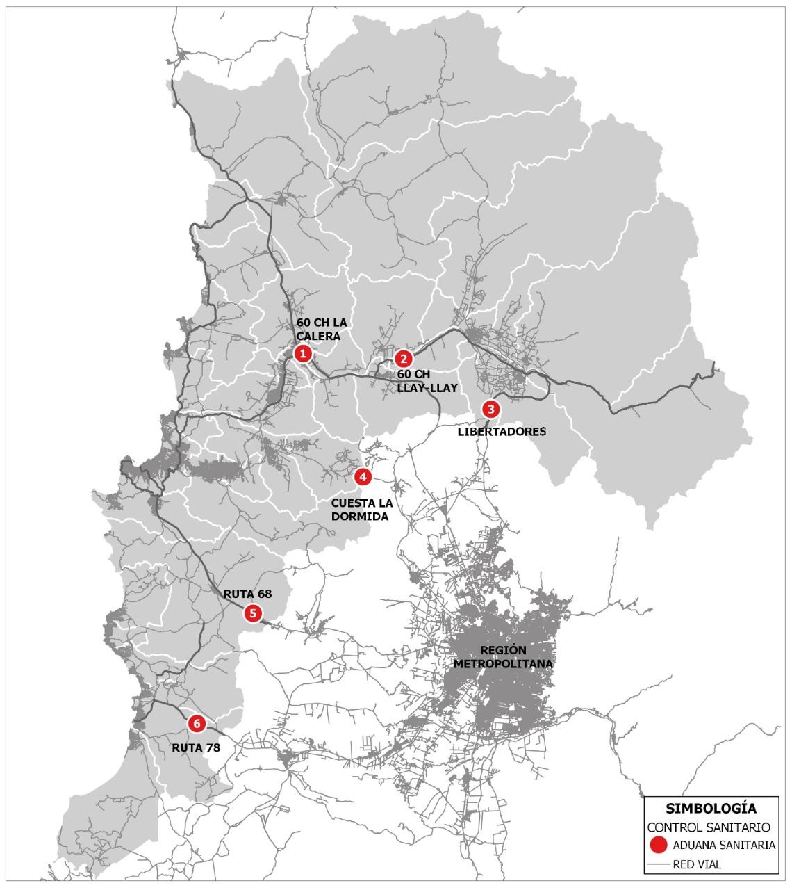 Recuerde que desde el viernes 8 de mayo se instalaron las nuevas barreras sanitarias en las rutas que unen la Región Metropolitana con Valparaíso