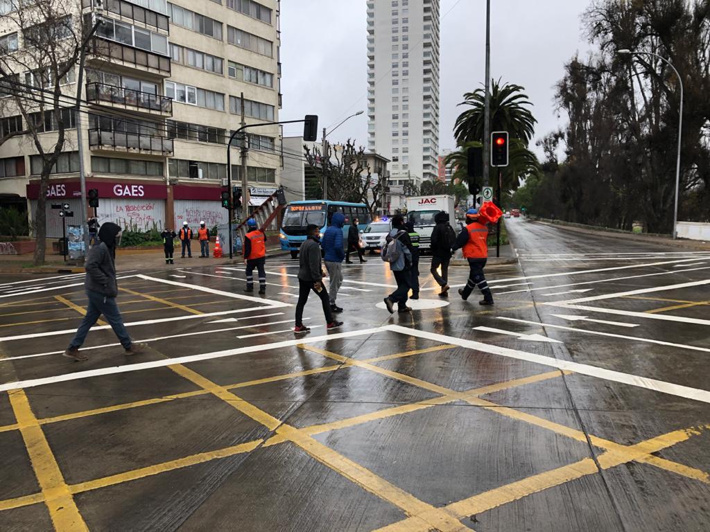 """UOCT Valparaíso apoya técnicamente en implementación de """"Cruces Tokio"""" y facilidades peatonales en la región"""