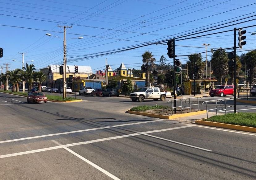 UOCT de Valparaíso implementa nuevo semáforo en la comuna de El Tabo