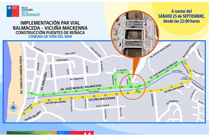 Este sábado se habilitó el tránsito en los Puentes de Reñaca