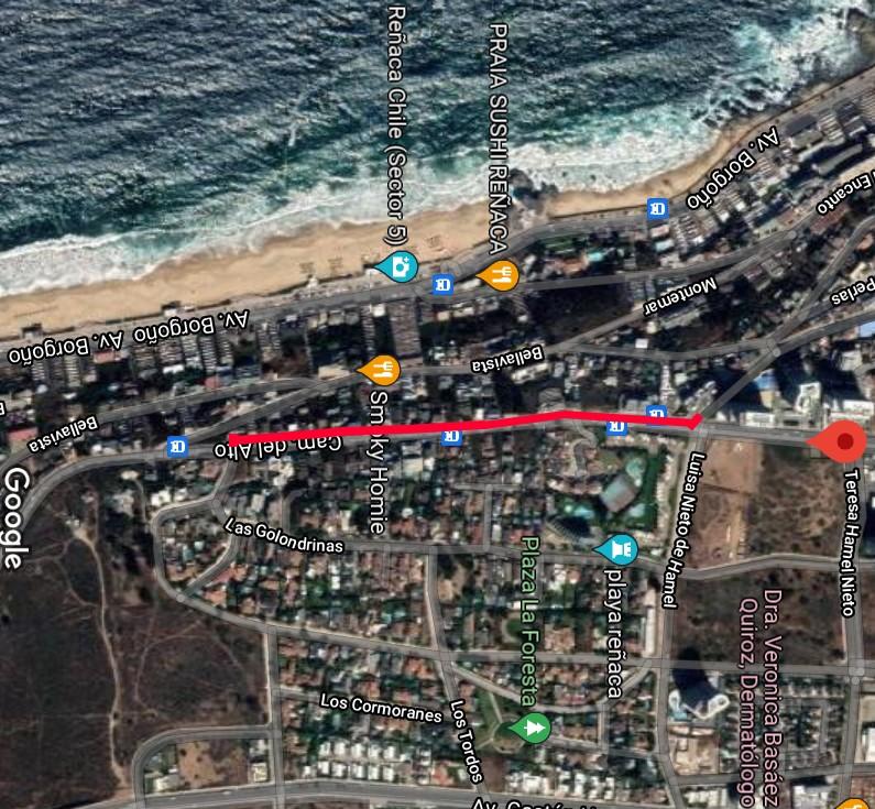 Por seis meses se cierra la calzada poniente de Av. Edmundo Eluchans en Viña del Mar